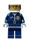 Minifig No: cty0484  Name: Police - City Motorcycle Officer, Lopsided Grin