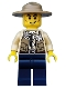 Minifig No: cty0512  Name: Swamp Police - Ranger, Dark Blue Legs, Campaign Hat