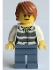 Minifig No: cty0514  Name: Swamp Police - Crook Female with Dark Orange Hair