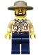 Minifig No: cty0517  Name: Swamp Police - Officer, Shirt, Dark Tan Hat, Black Beard