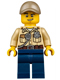 Minifig No: cty0523  Name: Swamp Police - Officer, Shirt, Dark Tan Cap