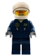 Minifig No: cty0535  Name: Swamp Police - Helicopter Pilot, Dark Blue Flight Suit with Badge, Helmet, Plain Hips and Legs