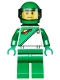 Minifig No: cty0582  Name: City Square Lego Store Statue - Futuron Green