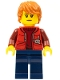 Minifig No: cty0603  Name: Deep Sea Submariner Female, Dark Orange Hair