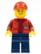 Minifig No: cty0605  Name: Deep Sea Submariner Male, Red Cap