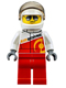 Minifig No: cty0611  Name: Rally Race Car Driver, Airborne Logo