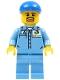 Minifig No: cty0679  Name: Medium Blue Uniform Shirt with Pocket and Octan Logo, Medium Blue Legs, Blue Short Bill Cap, Goatee