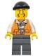 Minifig No: cty0701  Name: Police - City Bandit Male, Black Knit Cap, Moustache Handlebar