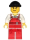 Minifig No: cty0709  Name: Police - City Bandit Male with Red Overalls, Black Knit Cap, Lopsided Open Smile