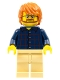 Minifig No: cty0726  Name: Plaid Button Shirt Front and Back, Tan Legs, Dark Orange Tousled Hair