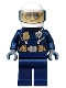 Minifig No: cty0739  Name: Police - City Helicopter Pilot Female, Silver Sunglasses