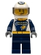 Minifig No: cty0749  Name: Dragster Race Car Driver, GEAR Logo