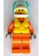 Minifig No: cty0826  Name: Coast Guard City - Female Rescuer with Scuba Diver Mask