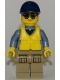 Minifig No: cty0837  Name: Mountain Police - Officer Male, Speed Boat with Life Jacket Center Buckle