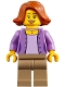 Minifig No: cty0844  Name: Camper, Female Parent