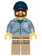 Minifig No: cty0887  Name: Mountain Police - Officer Male, Beard, Dark Blue Cap, Sand Blue Jacket