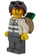 Minifig No: cty0890  Name: Mountain Police - Jail Prisoner 86753 Prison Stripes, Aviator Helmet, Backpack with Money