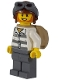 Minifig No: cty0890a  Name: Mountain Police - Jail Prisoner 86753 Prison Stripes, Aviator Helmet, Backpack