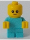Minifig No: cty0894  Name: Baby - Medium Azure Body with Yellow Hands