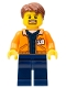 Minifig No: cty0895  Name: Miner - Equipment Operator with Beard, Reddish Brown Hair
