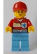 Minifig No: cty0896  Name: Medic, Female, Peach Lips, Closed Mouth