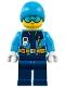 Minifig No: cty0903  Name: Arctic Explorer - Ski Beanie Hat, Light Blue Ski Goggles
