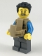 Minifig No: cty0919  Name: Camper, Male Parent, Beard, Black Hair Swept Left Tousled, Baby Carrier