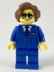 Minifig No: cty0947  Name: Pilot, Female, Short Reddish Brown Hair, Blue Airline Uniform