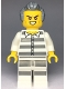 Minifig No: cty0978  Name: Sky Police - Jail Prisoner 50380 Prison Stripes, Scowl with Teeth, Dark Bluish Gray Hair with Sideburns