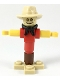 Minifig No: cty0986  Name: Scarecrow - Tan Fedora, Black Bandana, Red Shirt