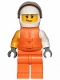 Minifig No: cty1002  Name: Jet Skier Female, 'VITA RUSH' Logo, Life Jacket