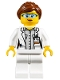 Minifig No: cty1011  Name: Scientist - Female, Blue Goggles and White Legs