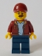 Minifig No: cty1043  Name: Taxi Driver - Dark Red Bomber Jacket, Dark Blue Legs