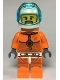 Minifig No: cty1063  Name: Astronaut - Male, Orange Spacesuit with Dark Bluish Gray Lines, Trans Light Blue Large Visor, Black Angular Beard