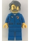 Minifig No: cty1068  Name: Astronaut - Male, Blue Jumpsuit, Dark Bluish Gray Hair and Full Angular Beard, Open Mouth Smile