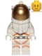 Minifig No: cty1076  Name: Astronaut - Male, White Spacesuit with Orange Lines, Thin Grin