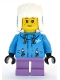 Minifig No: cty1080  Name: Girl - Dark Azure Jacket, Medium Lavender Short Legs, Ushanka Hat