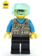 Minifig No: cty1082  Name: Helicopter Pilot - Dark Tan Vest Over Dark Azure Shirt, White Helmet