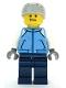 Minifig No: cty1087  Name: Snowboarder - Male, Medium Blue Jacket, Light Bluish Gray Sports Helmet