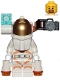 Minifig No: cty1092  Name: Astronaut - Male, White Spacesuit with Orange Lines, Side Camera and Lamp, Goatee