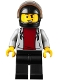 Minifig No: cty1097  Name: Motorcyclist, Stunt Driver