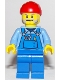 Minifig No: cty1103  Name: Tow Truck Driver, Red Bandana