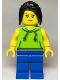 Minifig No: cty1117  Name: Tourist / Surfer - Female, Lime Hoodie