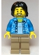 Minifig No: cty1118  Name: Tourist / Surfer - Dark Azure Hawaiian Shirt