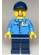 Minifig No: cty1119  Name: Gas Station Worker - Medium Blue Shirt with 'Octan' Logo, Dark Blue Legs and Cap