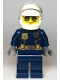 Minifig No: cty1121  Name: Police - City Motorcyclist Female, Silver Sunglasses, Trans-Clear Visor