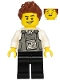 Minifig No: cty1135  Name: Police - Security Officer, Black Legs, Brown Hair