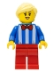 Minifig No: cty1139  Name: Ice Cream Vendor - Female, Red Legs, Bright Light Yellow Hair