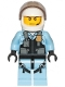 Minifig No: cty1148  Name: Police - Helicopter Pilot, Bright Light Blue Jumpsuit