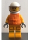 Minifig No: cty1157  Name: Fire - Reflective Stripes, Bright Light Orange Suit, Life Jacket, White Helmet